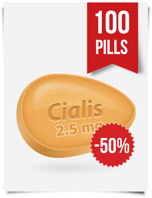 Generic Cialis 2.5 mg Daily x 100 Tabs