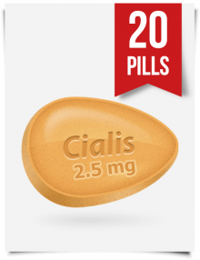 Generic Cialis 2.5 mg Daily x 20 Tabs