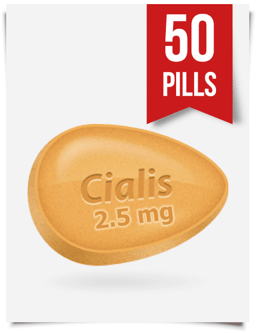 Generic Cialis 2.5 mg Daily x 50 Tabs
