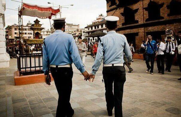 What about the way men hold hands in some Eastern countries?