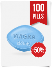 Generic Viagra 25 mg Daily x 100 Tabs
