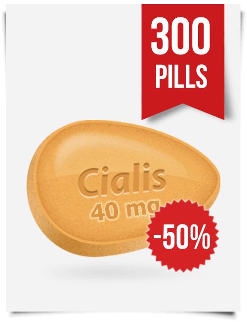 Generic Cialis 40 mg 300 Tabs