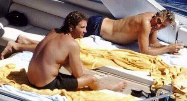 George Clooney gay tan yacht naked