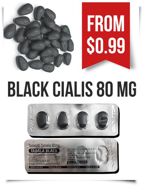 Black Cialis 80 mg Tadalafil