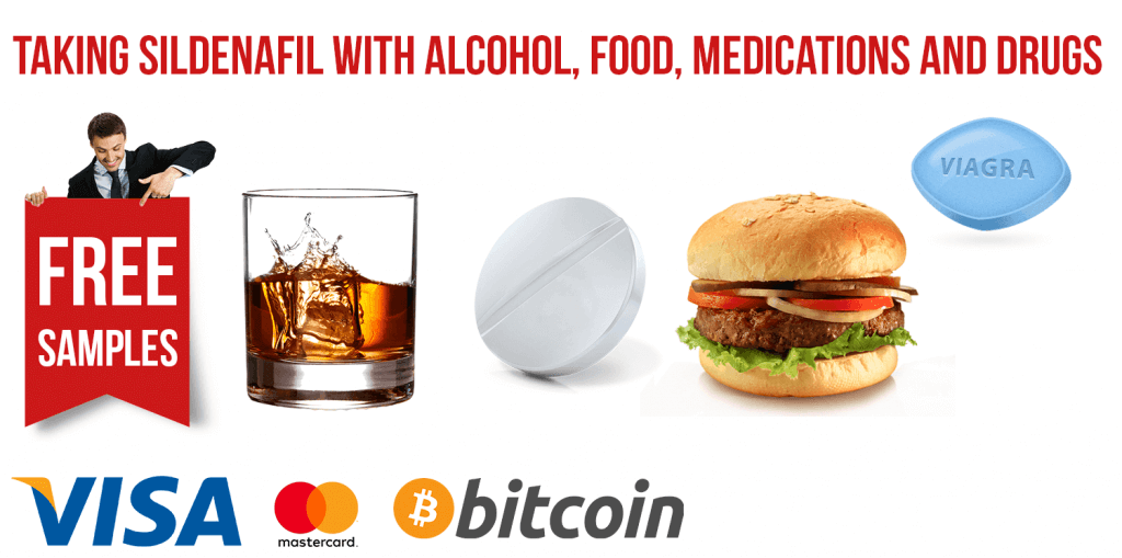 Taking Sildenafil with Alcohol, Food, Medications and Drugs