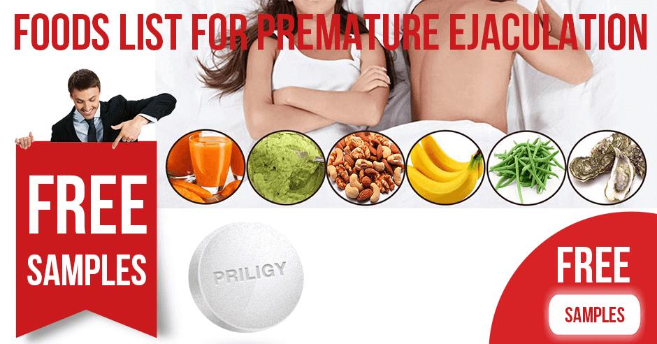 Foods List for Premature Ejaculation