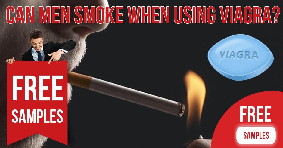 Can men smoke when using Viagra Sildenafil