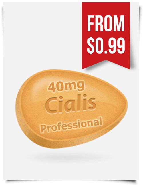 Cialis Professional 40 mg Tadalafil