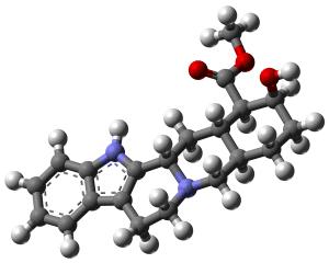 Yohimbine molecule