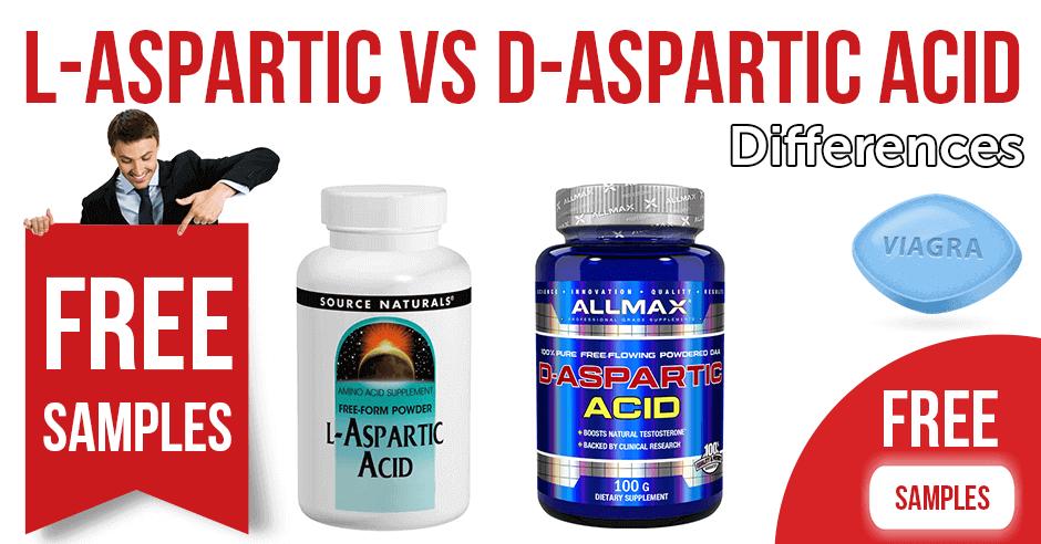Differences between L-aspartic acid and D-aspartic acid